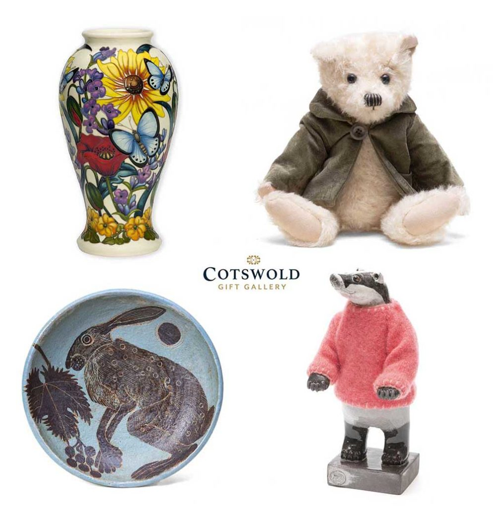 A selection of gifts from the Cotswold Gift Gallery