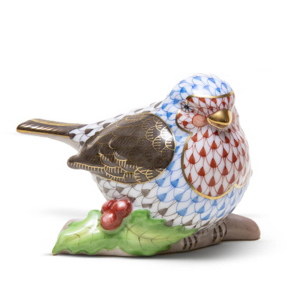 Blue Red Bird On Holly 1024x1024