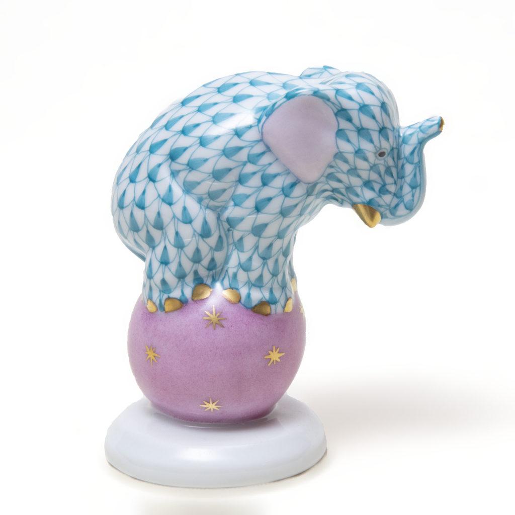 Elephant Blue On Ball 1024x1024