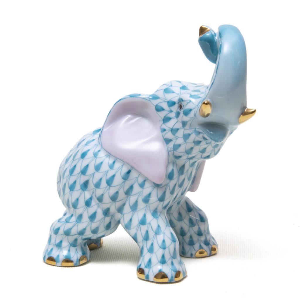 Elephant Blue Trunk Up 1024x1024