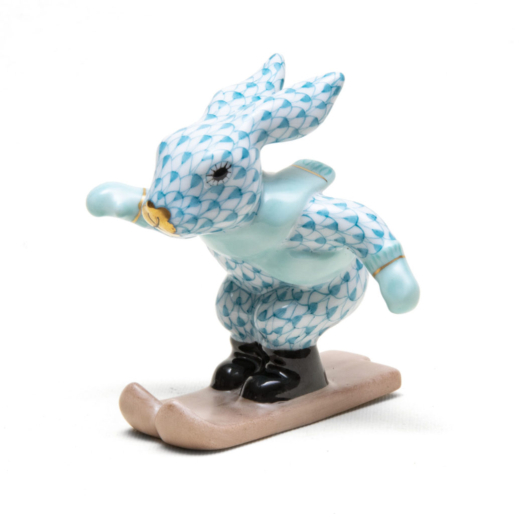 Rabbit Skiing Blue 1024x1024
