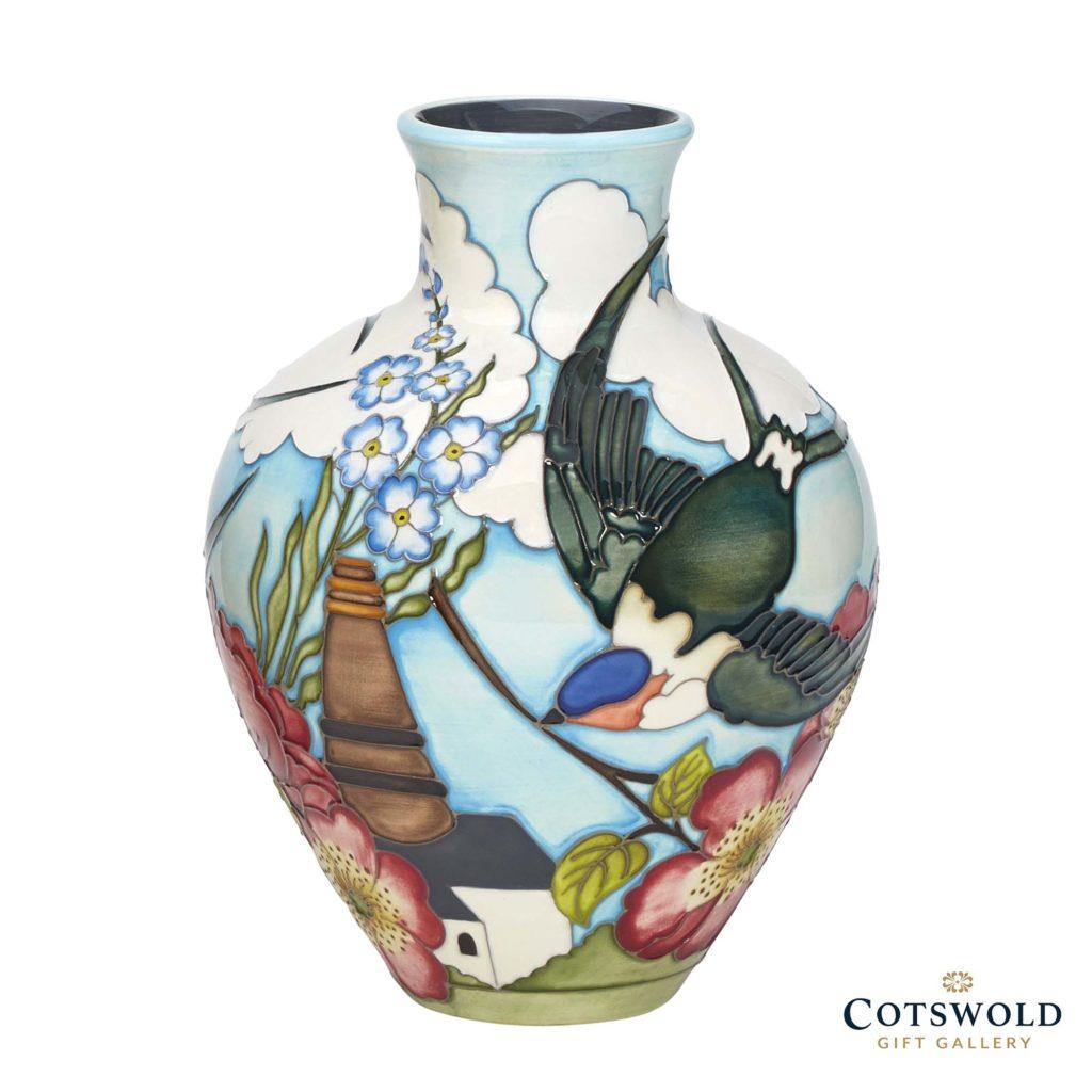 Moorcroft Pottery Swallows Over Burslem 1024x1024