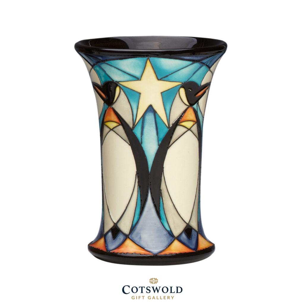 Moorcroft Christmas Penguin Frieze Vase 01 1024x1024