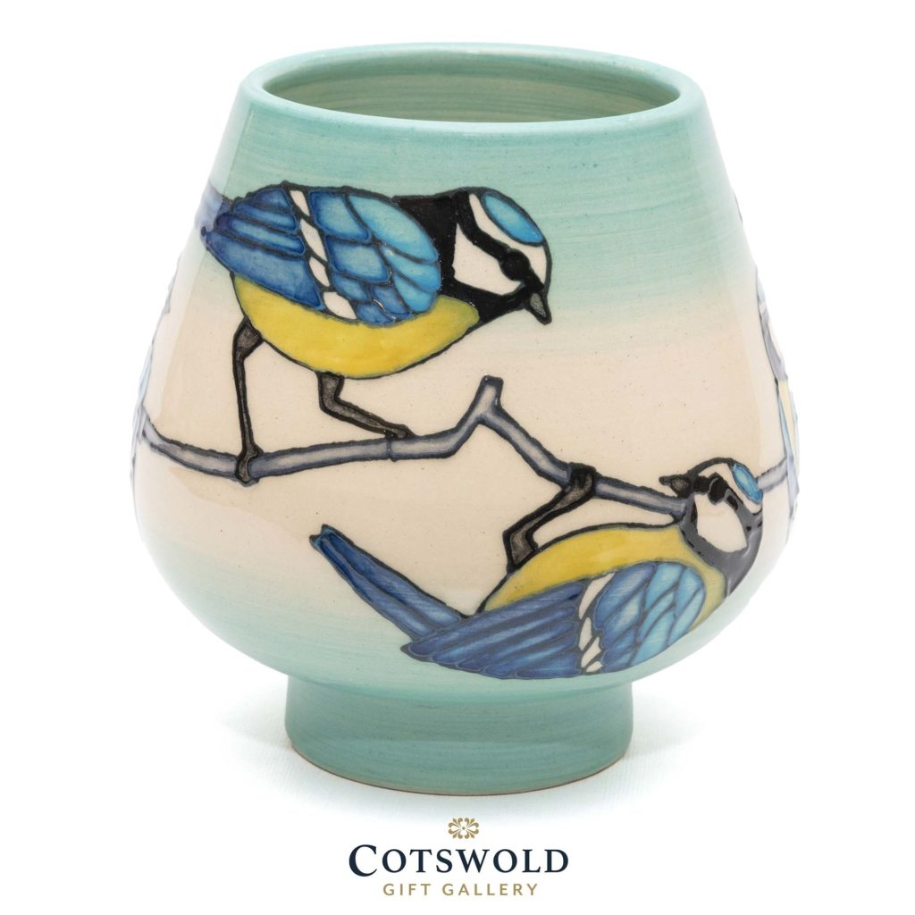 Dennis Chinaworks Blue Tit Vase 2 1024x1024