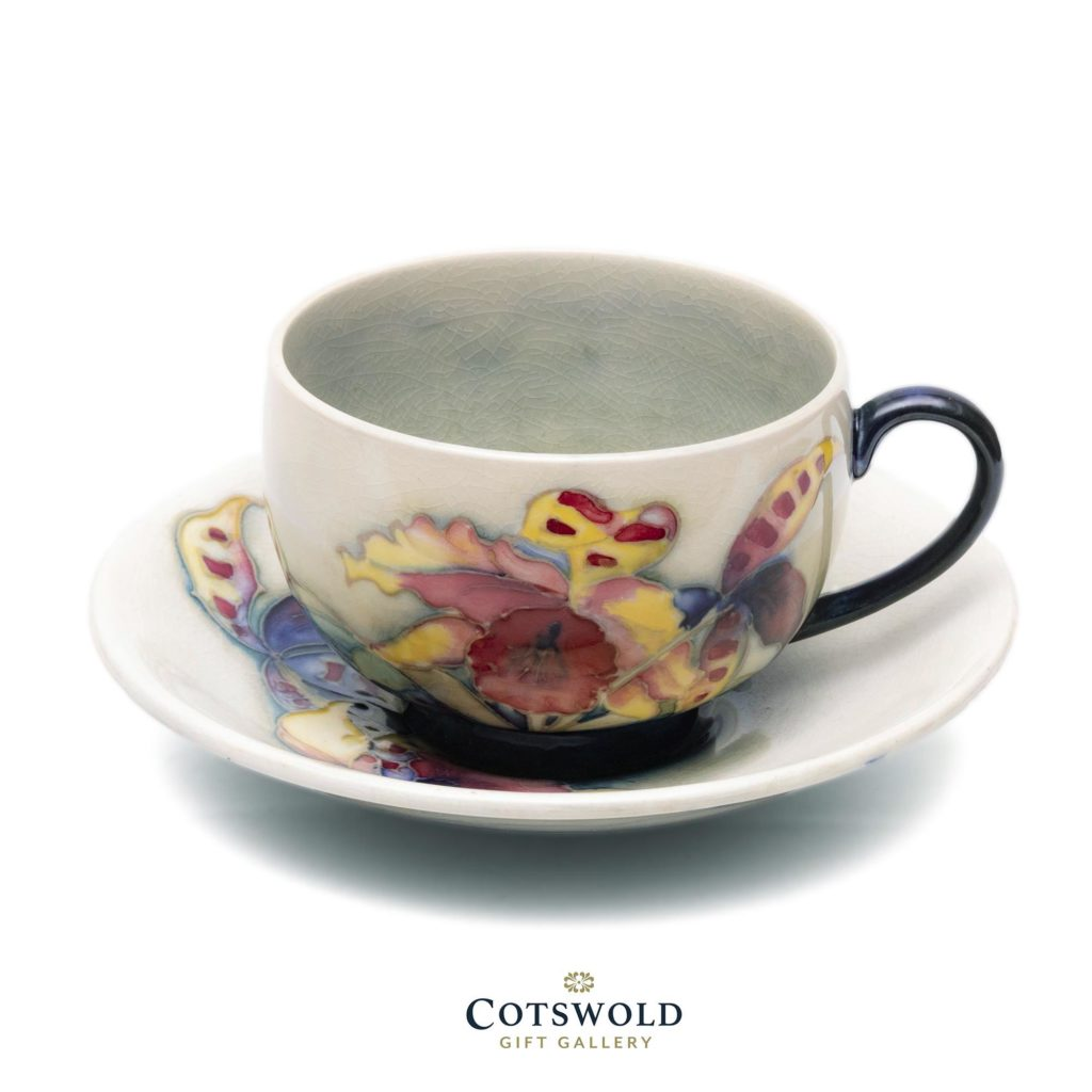Moorcroft Vintage Orchid Teacup And Saucer1 1024x1024