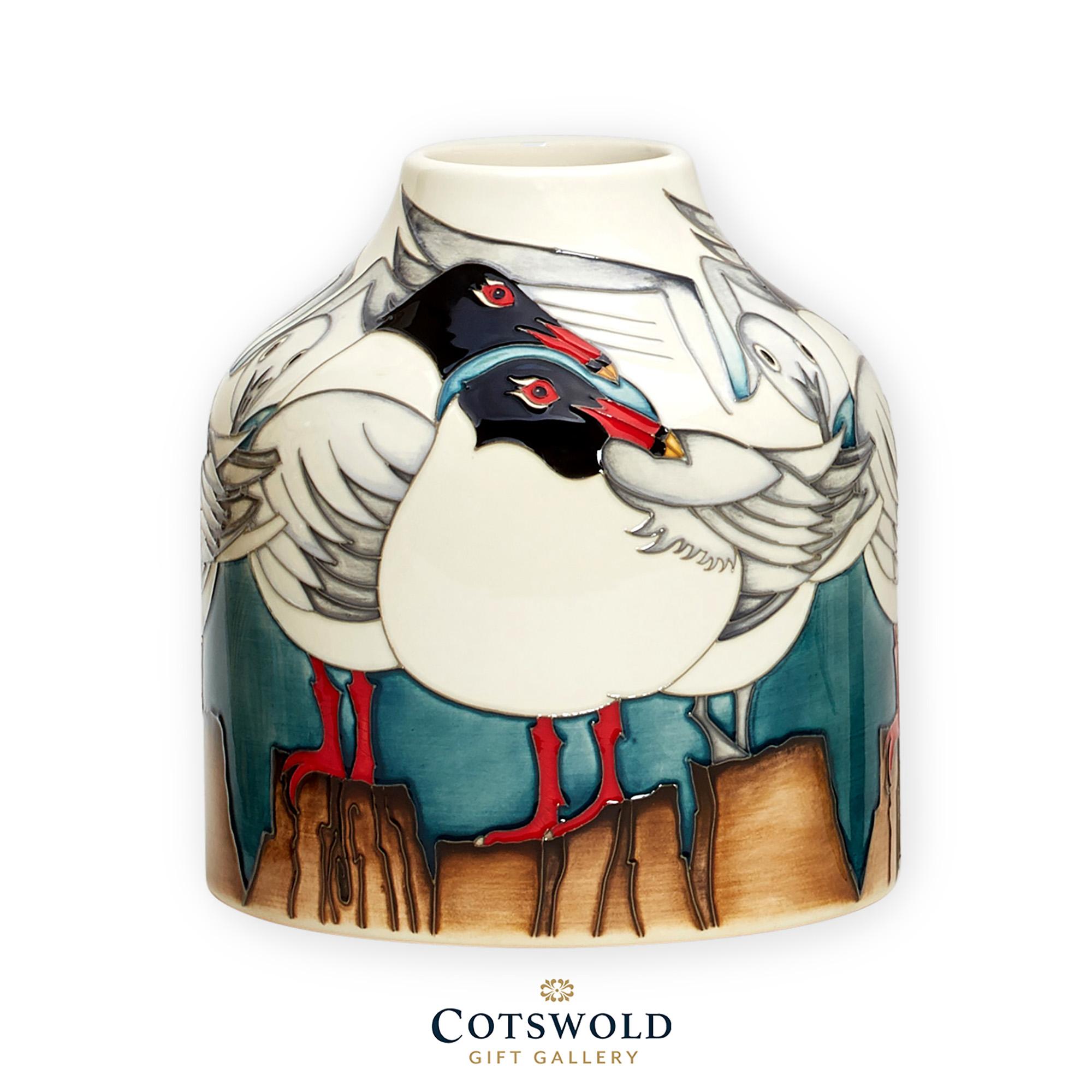Moorcroft Pottery Mediterranean Gulls Vase