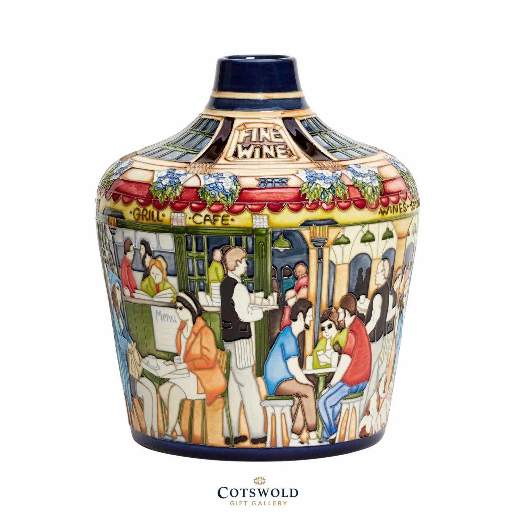 Moorcroft Pottery Peoplewatching Vase 01 1024x1024