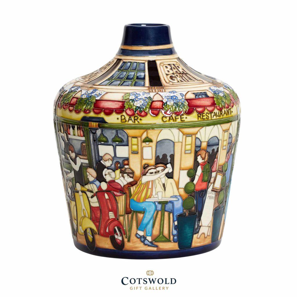 Moorcroft Pottery Peoplewatching Vase 02 1024x1024
