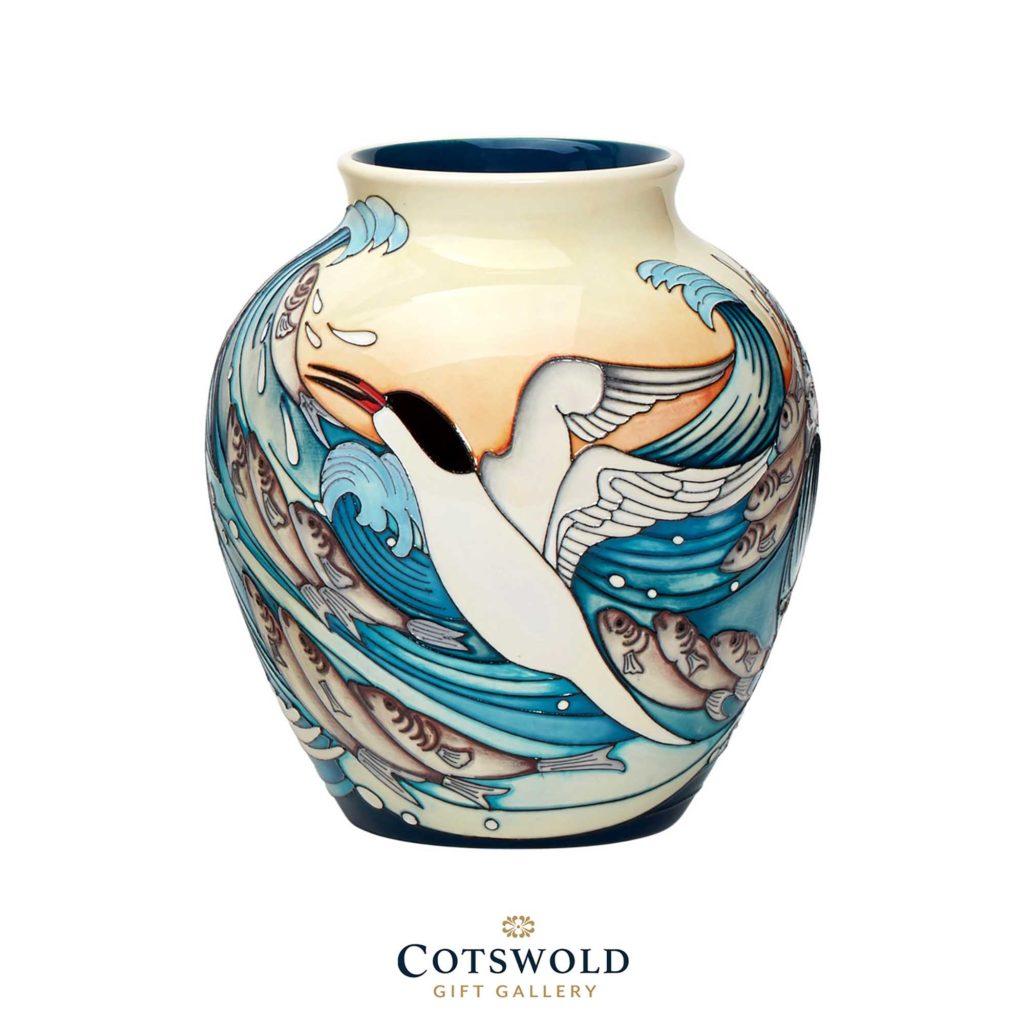 Moorcroft Pottery Roseate Terns Vase 01 1024x1024