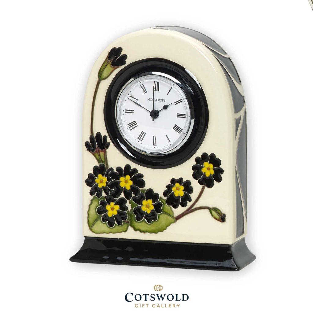 Moorcroft Pottery Silver Lace Clock 1024x1024