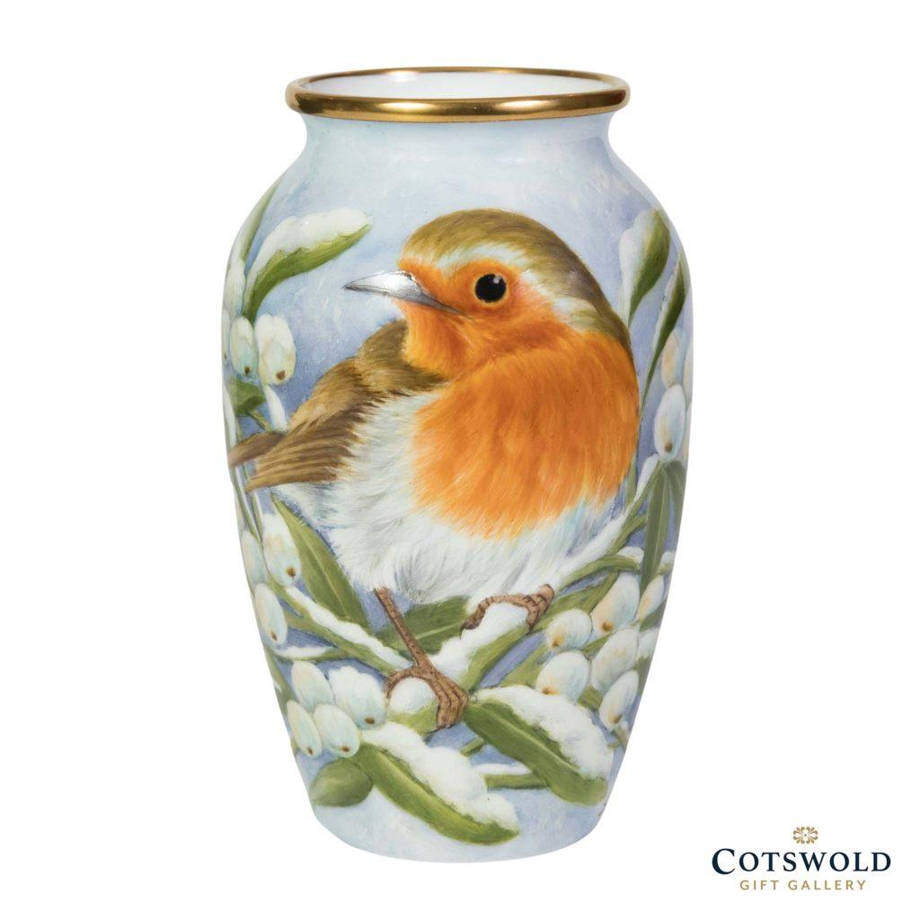 Steve Smith Miniature Robin Winter Mistletoe 1 1024x1024