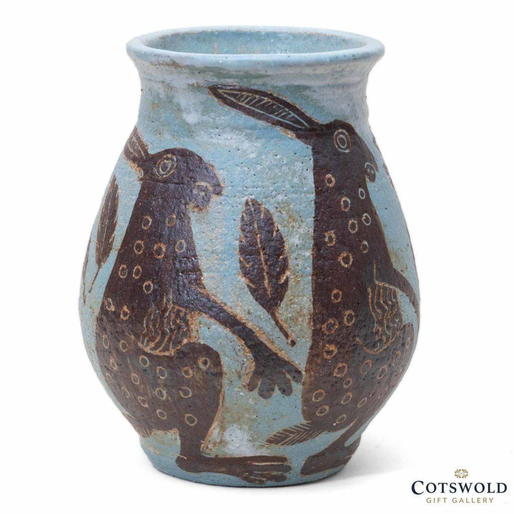 Michele Cowmeadow Alert Hares Vase 3 1024x1024
