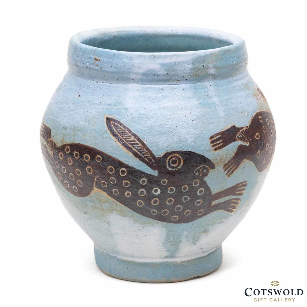 Michele Cowmeadow Running Hares Vase 1 1024x1024