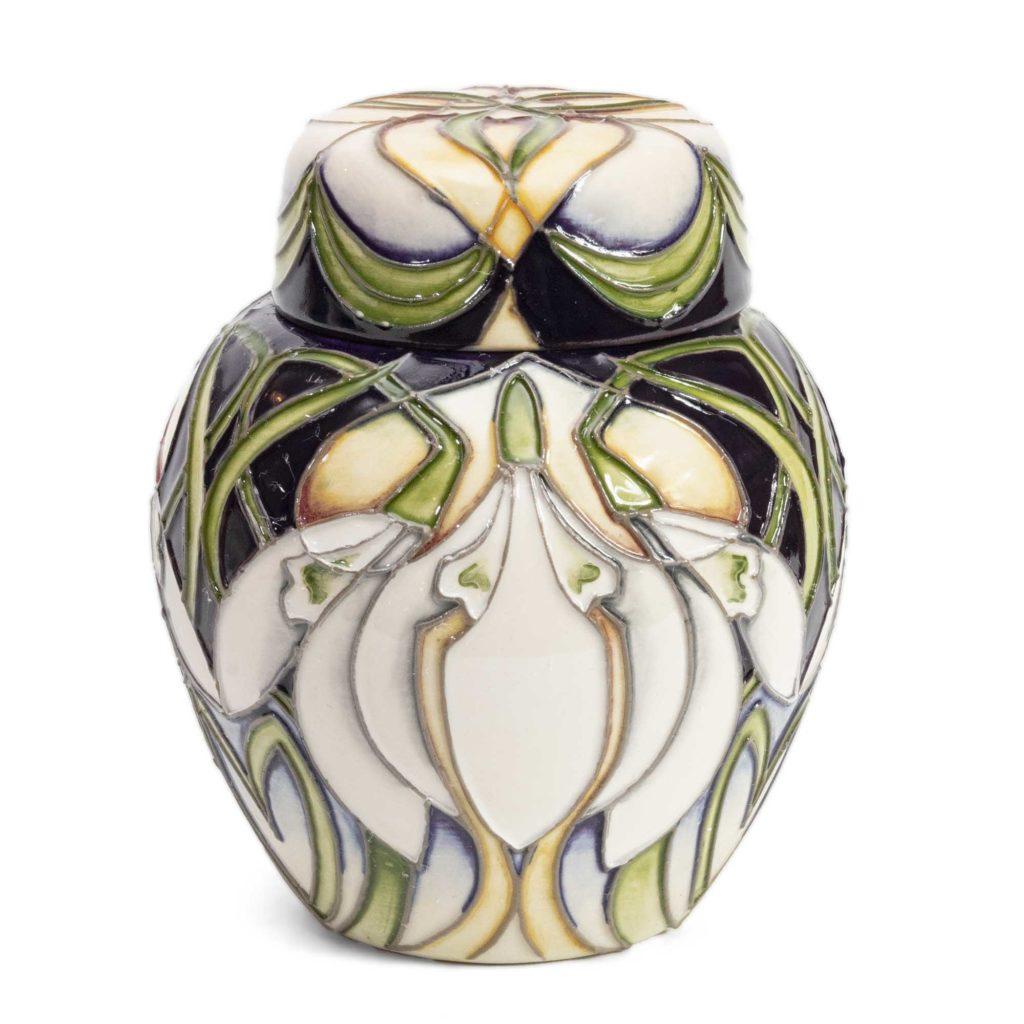 Moorcroft Pottery Galanthus Ginger Jar 769 4 1024x1024