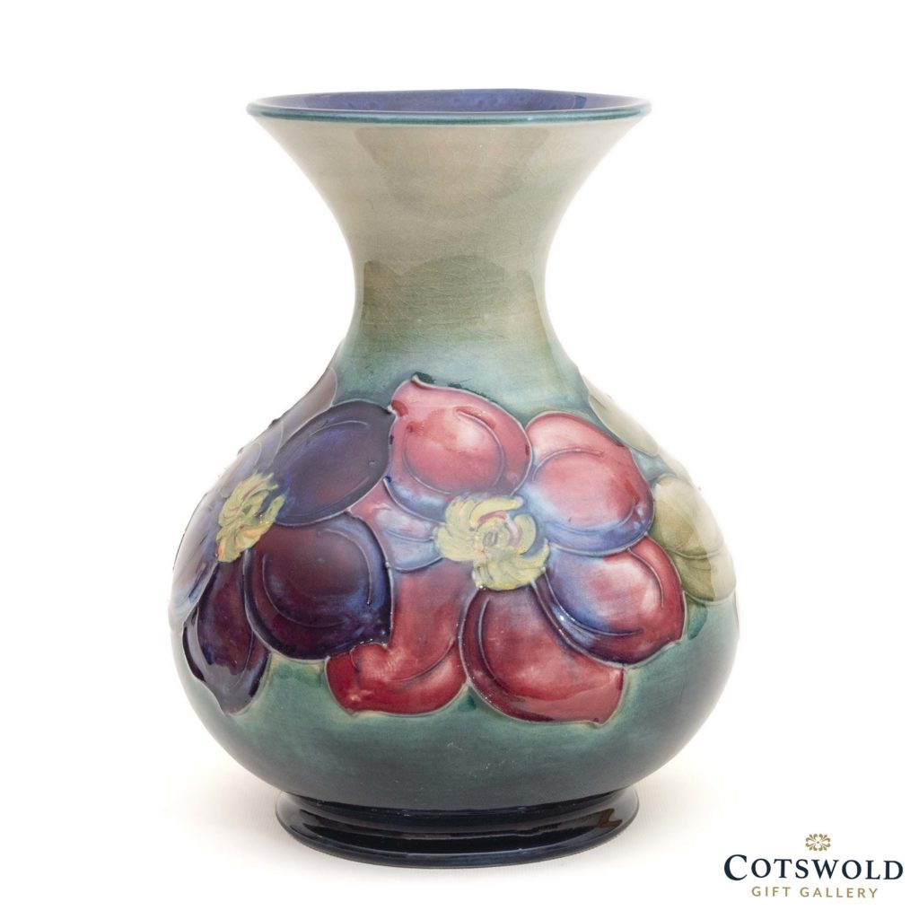 Walter Moorcroft Pottery Vintage Clematis M16 Vase 3 1024x1024