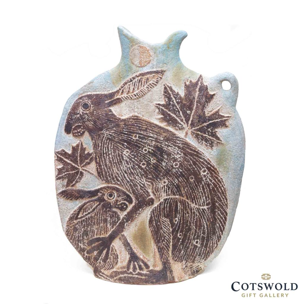 Michele Cowmeadow Slab Vase Hare And Leveret 1 1024x1024