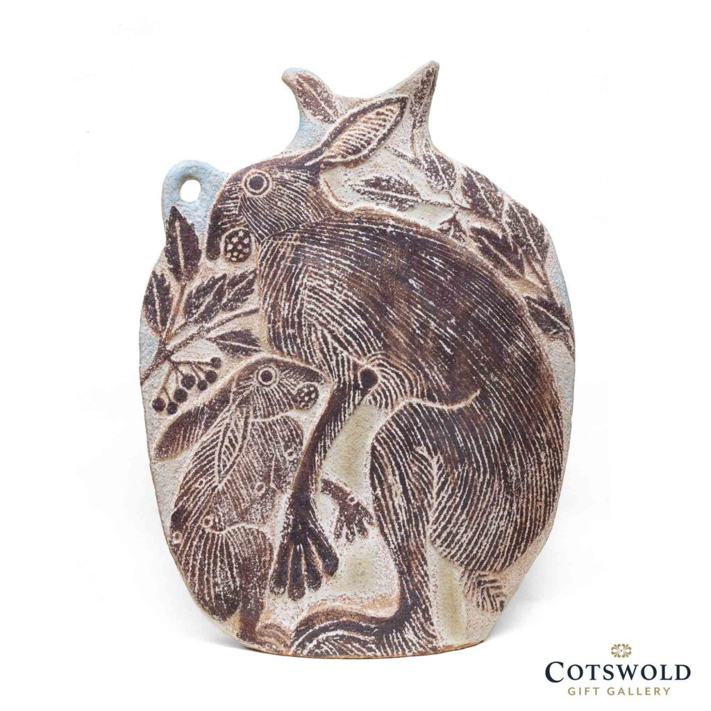 Michele Cowmeadow Slab Vase Hare And Leveret 2 1024x1024