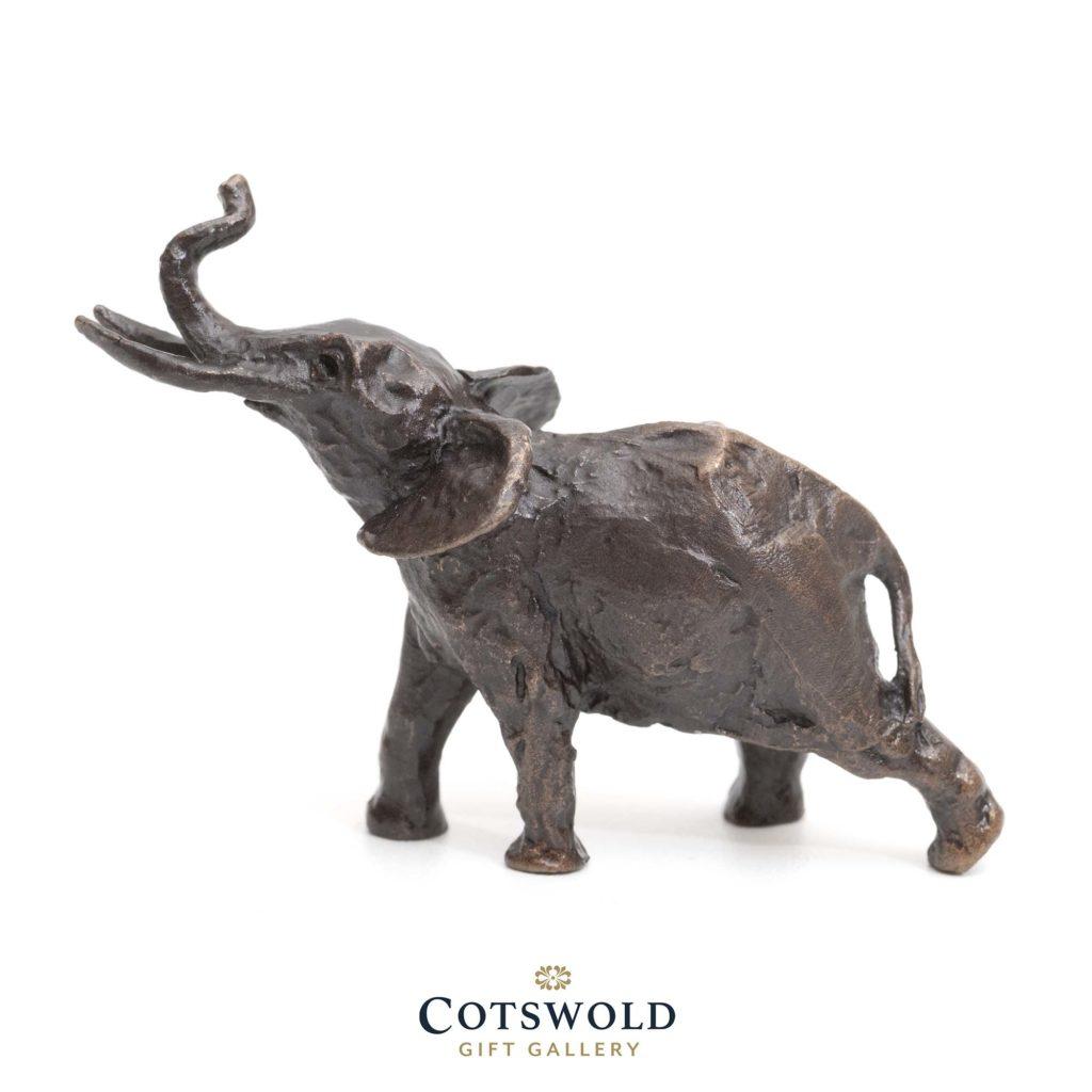 Richard Cooper Bronze Miniature Elephant Trumpeting 1 1024x1024