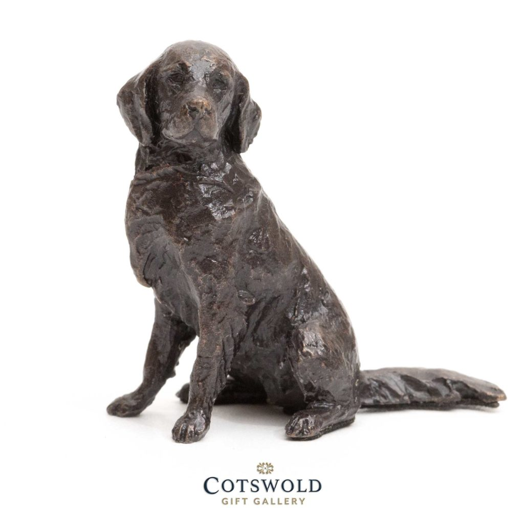 Richard Cooper Bronze Miniature Retriever Sitting 2 1024x1024