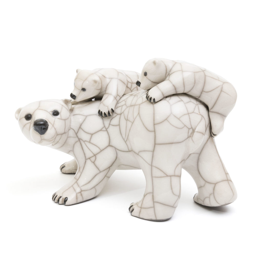 Chloe Harford Raku Polar Bear Family 1 1024x1024