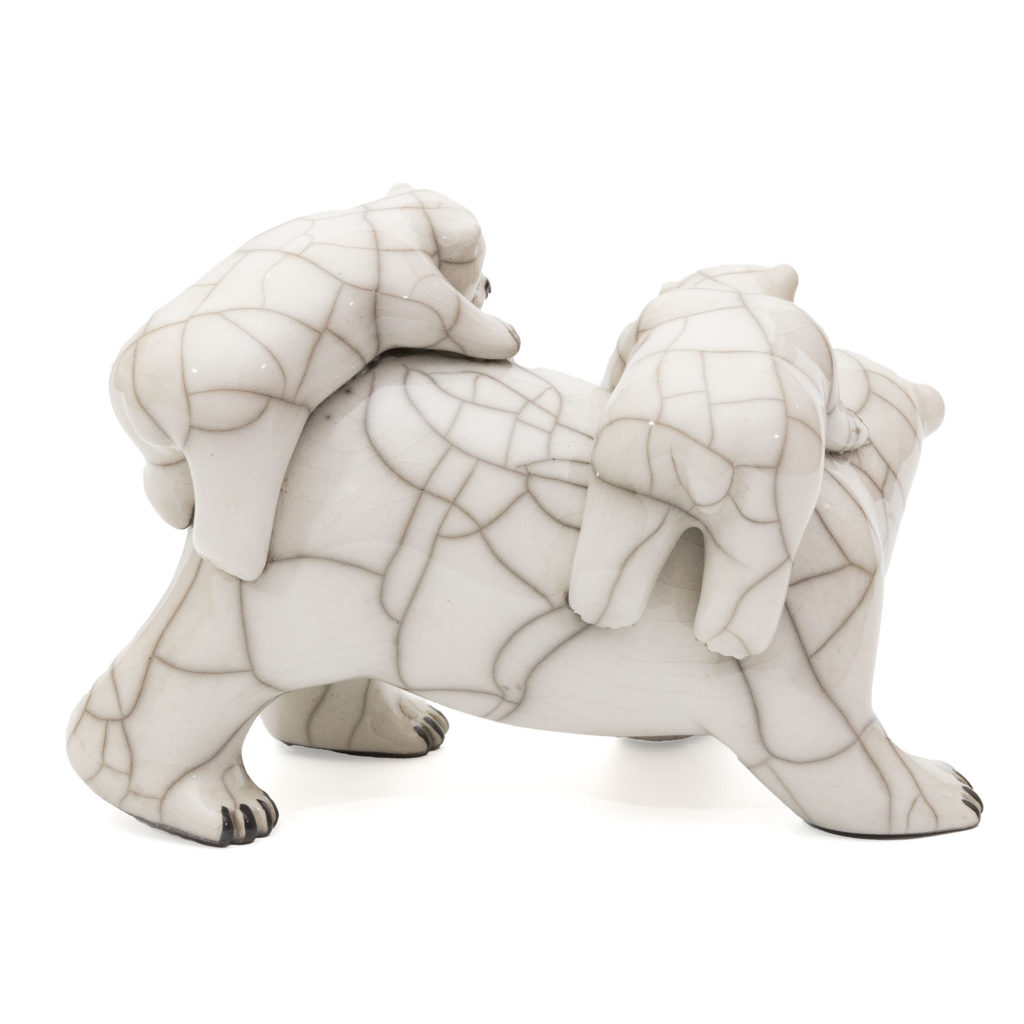 Chloe Harford Raku Polar Bear Family 2 1024x1024