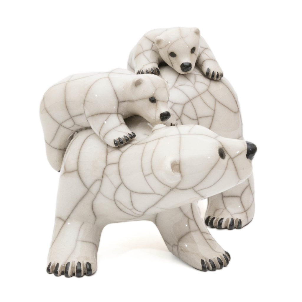 Chloe Harford Raku Polar Bear Family 3 1024x1024