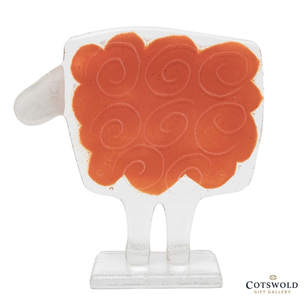 Habrat Glass Large Sheep Orange 1024x1024