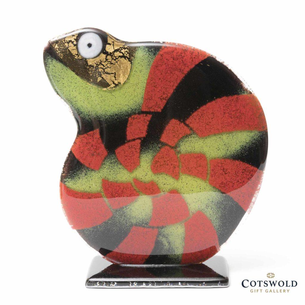 Habrat Glass Small Chameleon Red Gold 1024x1024
