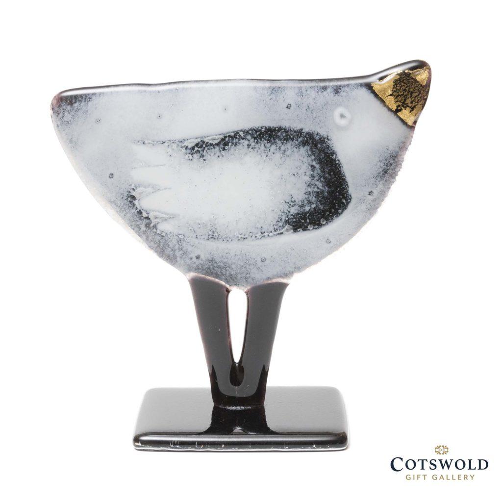 Habrat Glass Standing Golden Bird Black And White 17 1024x1024