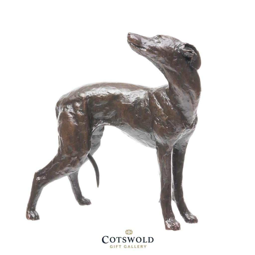 Michael Simpson Solid Bronze Whippet Standing 1 1024x1024