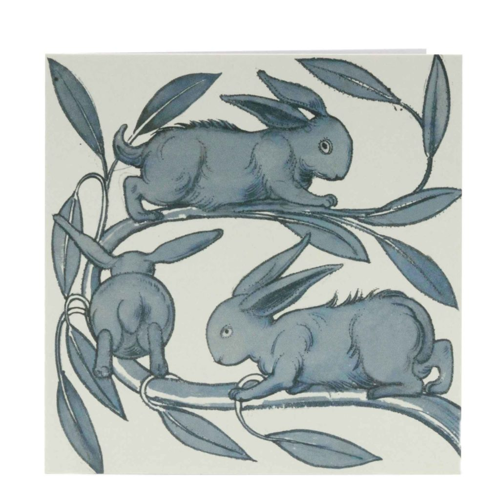 Museums And Galleries William De Morgan Rabbits Card 1024x1024