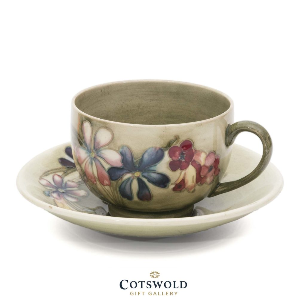 William Moorcroft Vintage Spring Flowers Cup And Saucer 1 1024x1024