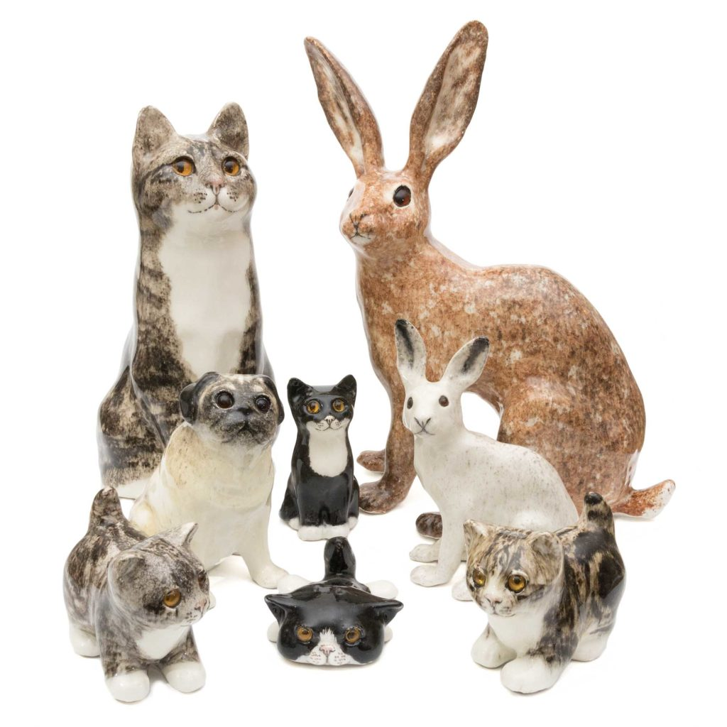 A group of Winstanley Cats sold by the Cotswold Gift Gallery