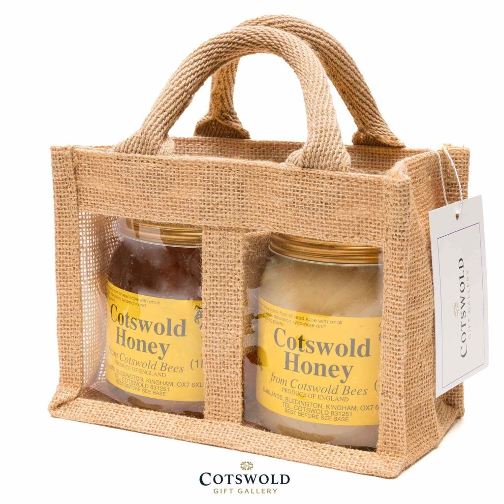 Two jars of Cotswold Honey from the Cotswold Gift Gallery