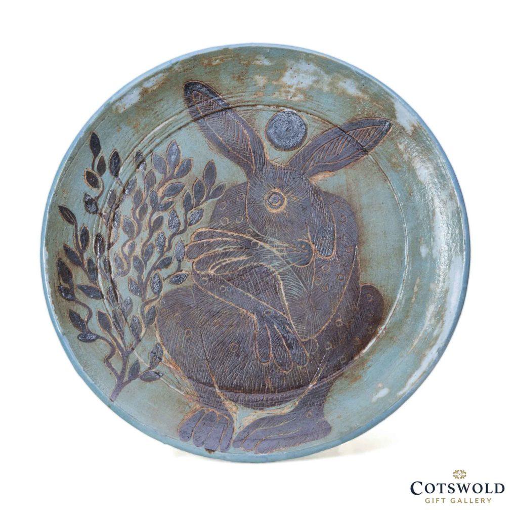 Michele Cowmeadow Crouching Hare Dish 1 1024x1024