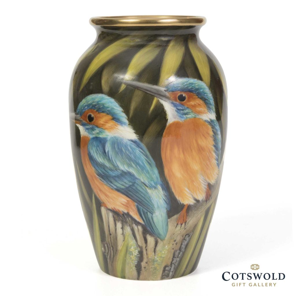 Steve Smith Enamel Miniature Kingfishers Watching 1 1024x1024