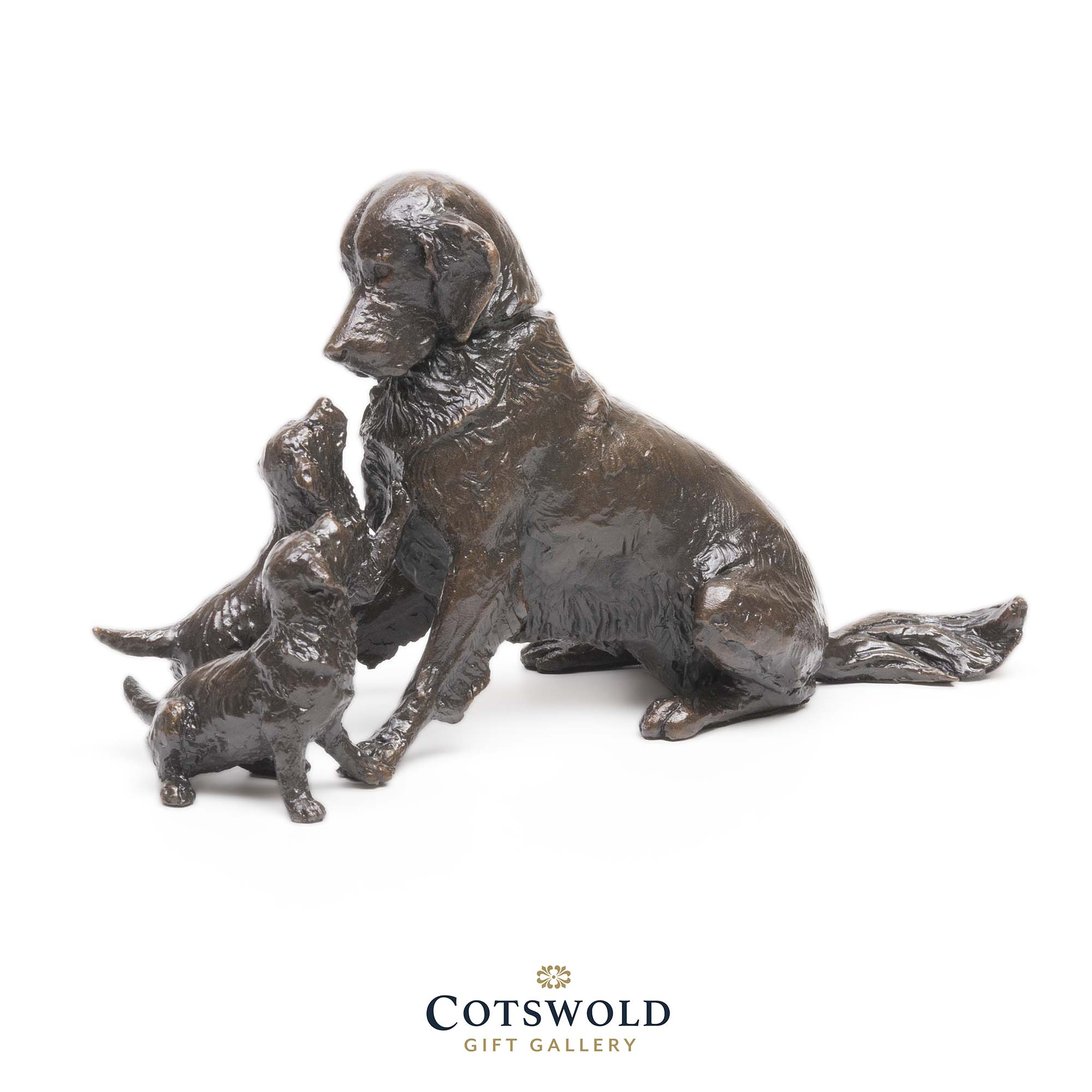 Michael Simpson Bronze Retriever With Puppies 1