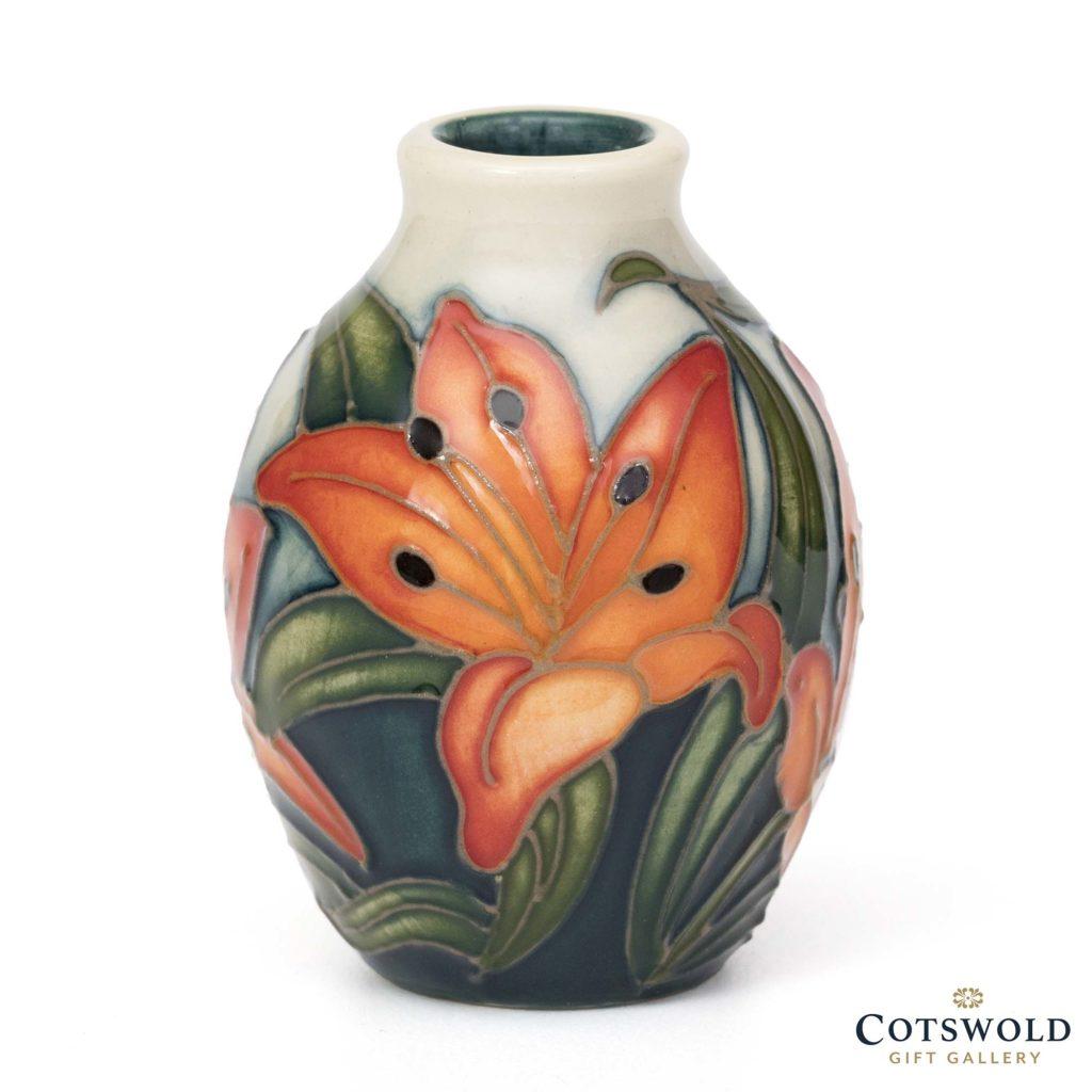 Moorcroft Pottery Miniature Tiger Daylily Vase 1024x1024