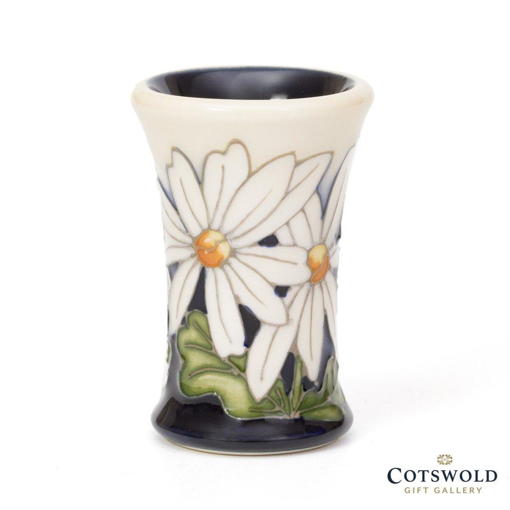 Moorcroft Pottery Miniature White Rays Vase 1024x1024