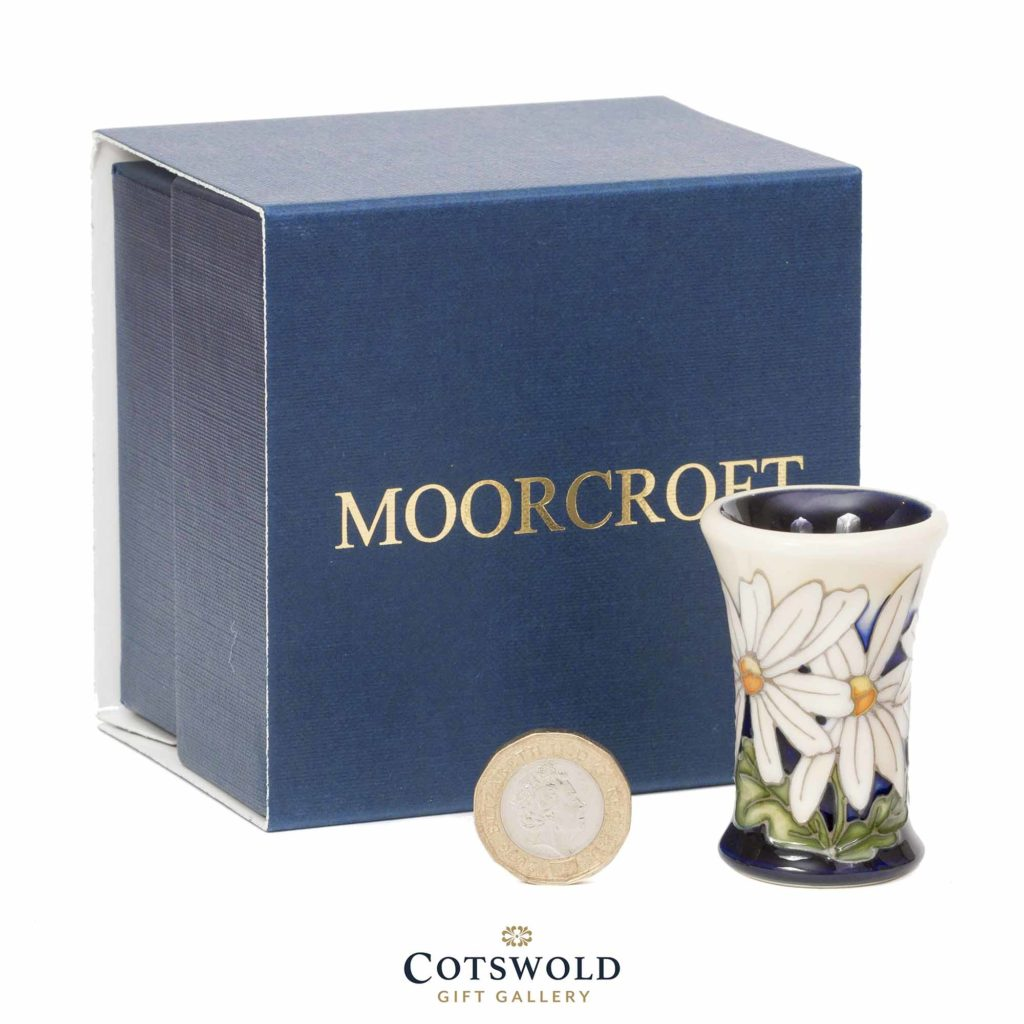 Moorcroft Pottery Miniature White Rays Vase Box 1024x1024