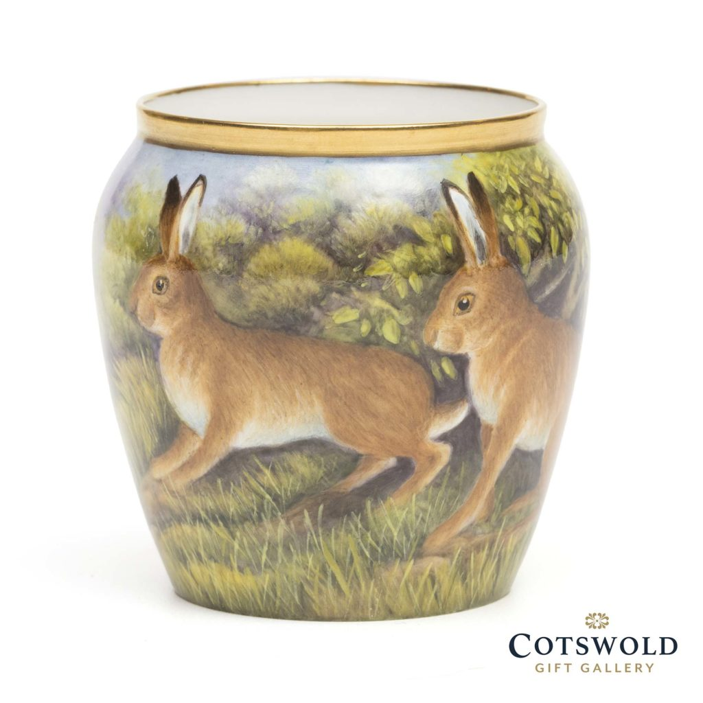 Steve Smith Miniature Vase Hares At Play 5 1024x1024
