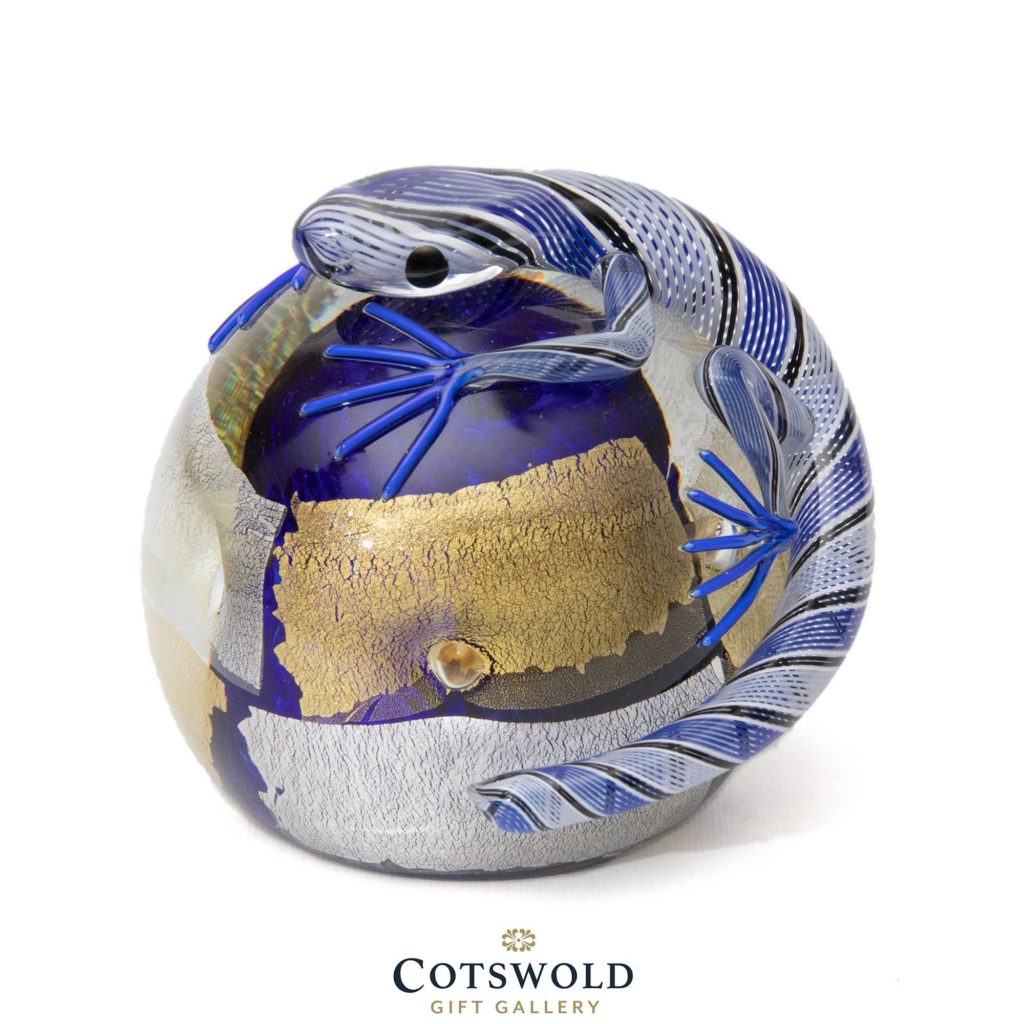 Twists Lizard Paperweight Blue 1 1024x1024