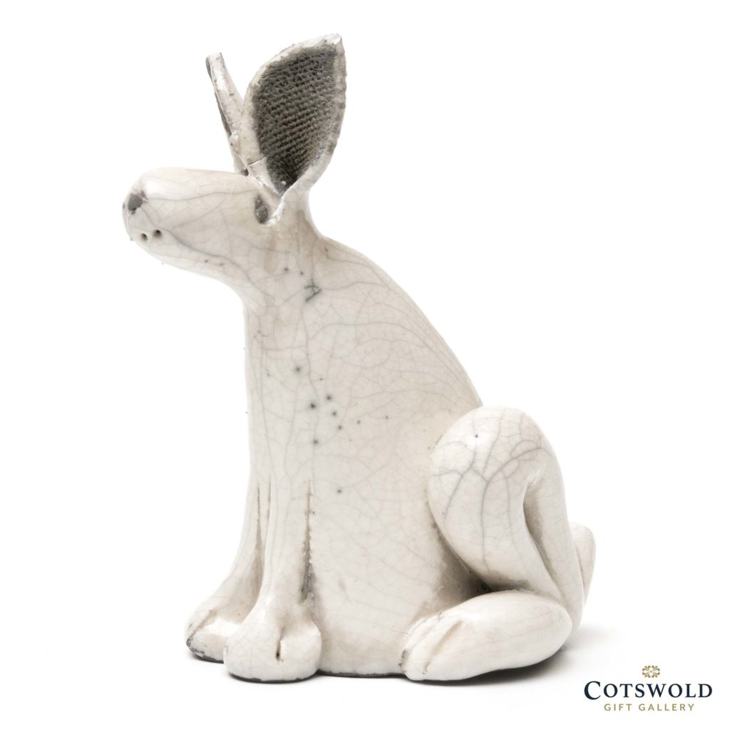 Rob Whelpton Ceramics Raku Alert Sitting Hare Small 2 1024x1024