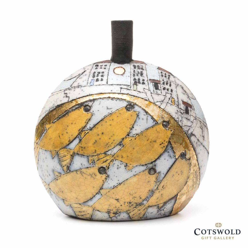Rob Whelpton Ceramics Raku Round Bottle Medium 2 1024x1024