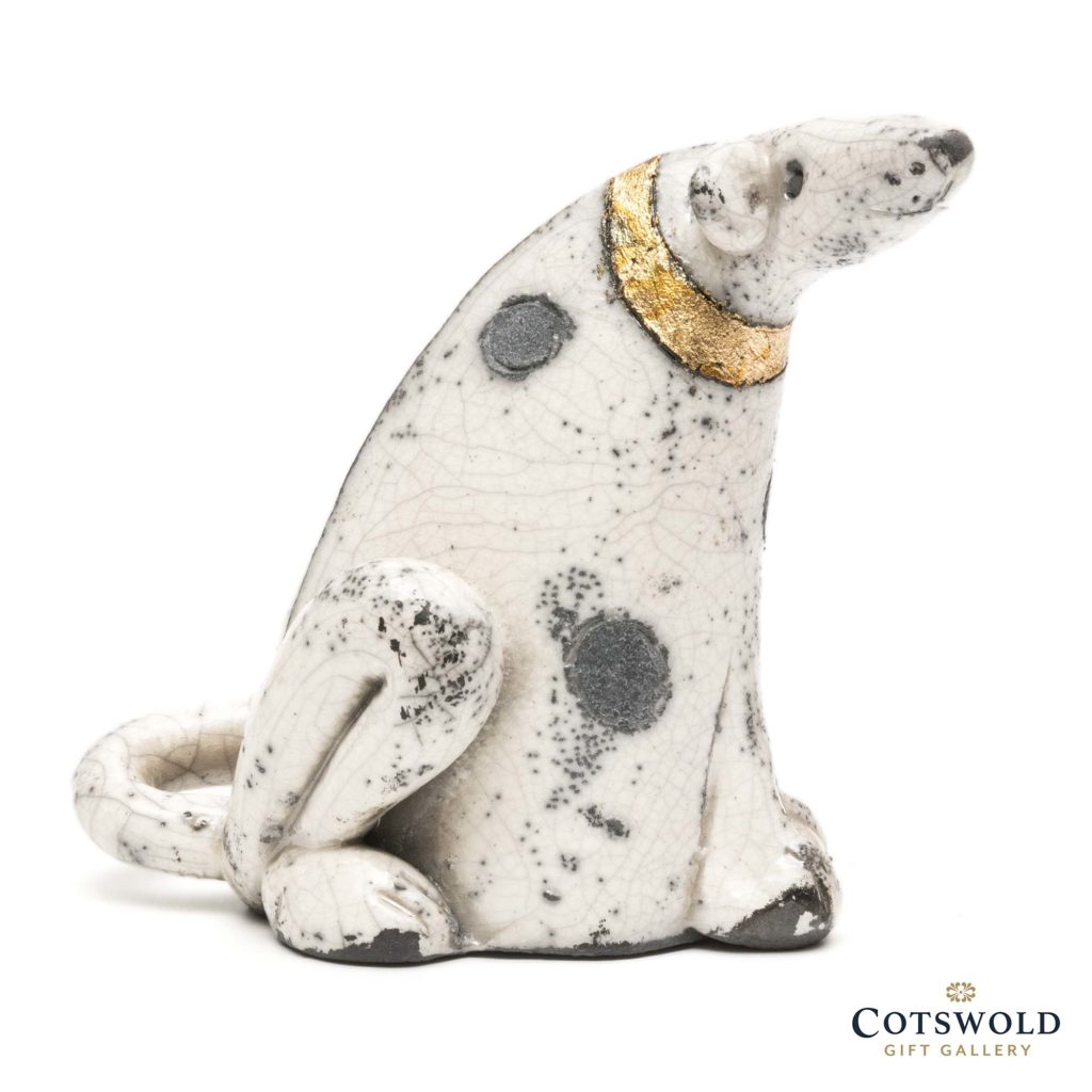Rob Whelpton Ceramics Raku Spotty Dog Medium 2 1024x1024