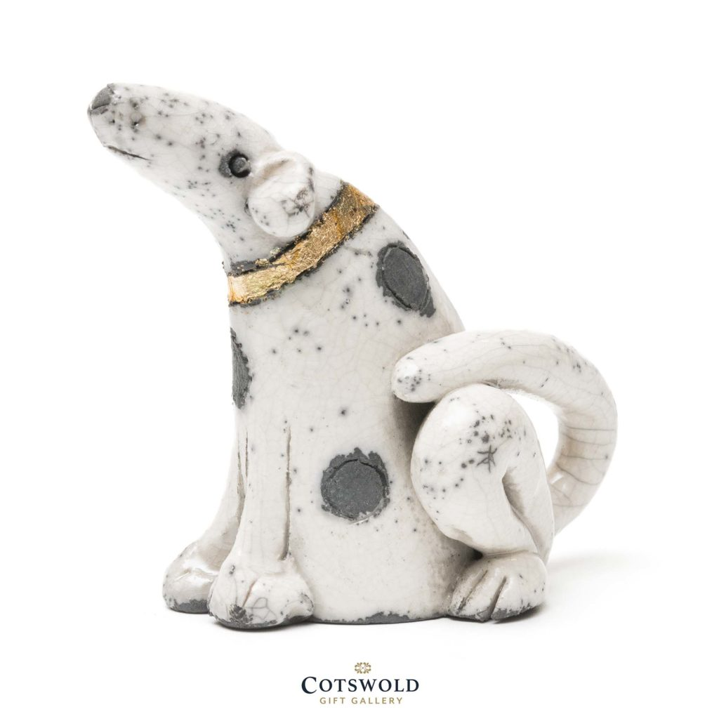 Rob Whelpton Ceramics Raku Spotty Dog Small 1 1024x1024