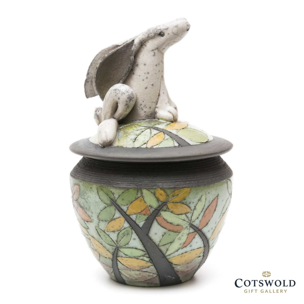 Rob Whelpton Sitting Hare Lidded Pot 1 1024x1024