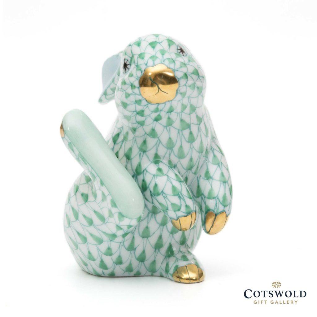 Herend Porcelain Thumper Rabbit Green 5 1024x1024