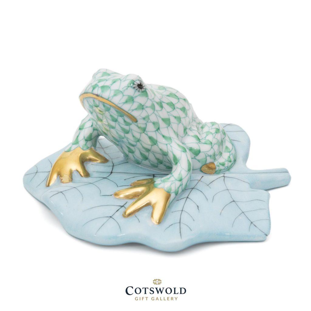 Herend Porcelain Tree Frog Miniature Green 1 1024x1024