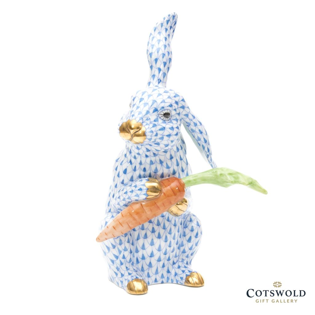 Herend Rabbit With Carrot Blue 2 1024x1024